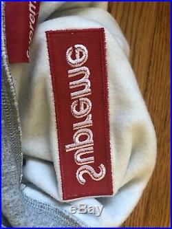 Supreme Box Logo Hoodie (FW17) Heather Gray Medium