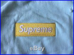 Supreme Box Logo Hoodie FW17 Ice Blue sz Large