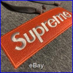Supreme Box Logo Hoodie FW17 Orange Grey Large L