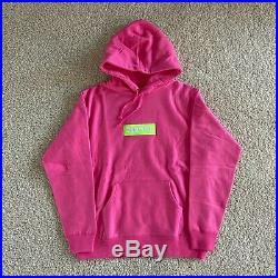 Supreme Box Logo Hoodie FW17 Pink/Lime Medium