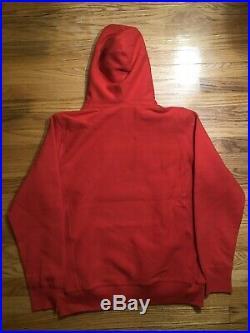 Supreme Box Logo Hoodie (FW17) Red/Purple Medium