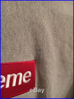 Supreme Box Logo Hoodie Gray