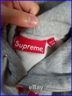 Supreme Box Logo Hoodie Gray Size Small