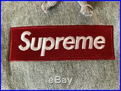 Supreme Box Logo Hoodie Grey (Bogo) Large