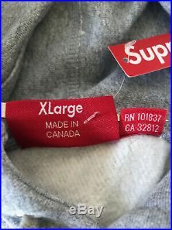 Supreme Box Logo Hoodie Grey FW16 Size XL