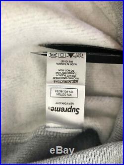 Supreme Box Logo Hoodie Grey FW17 Size Extra Large