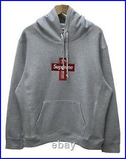 Supreme Box Logo Hoodie Grey Size XL