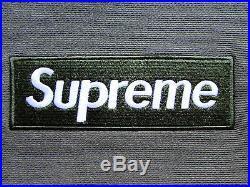 Supreme Box Logo Hoodie Hooded Sweatshirt Olive Olive Green Size M