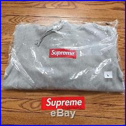 Supreme Box Logo Hoodie, LARGE, Heather Grey, New In-bag withReceipt F/W'16