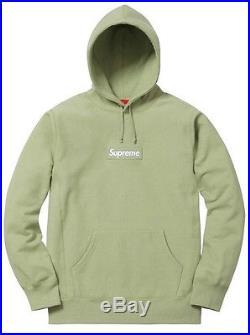 Supreme Box Logo Hoodie Large Sage