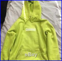 Supreme Box Logo Hoodie Lime Green Size M