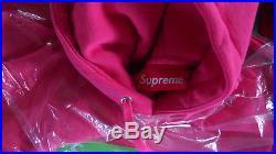 Supreme Box Logo Hoodie Magenta Pink Green Size Large