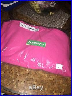 Supreme Box Logo Hoodie Magenta Pink Large Confirmed
