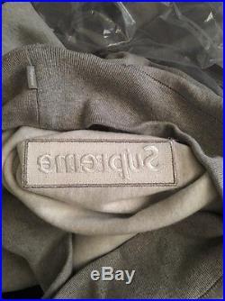 Supreme Box Logo Hoodie Medium Grey On Grey
