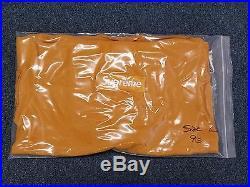 Supreme Box Logo Hoodie Mustard Very Rare Size L 1000% Authentic