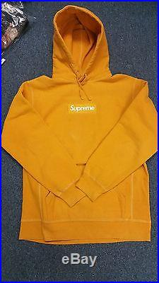 404d58262183 Supreme Box Logo Hoodie Mustard Very Rare Size XL 1000% Authentic