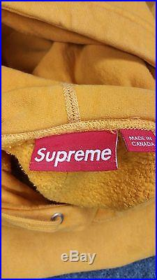 Supreme Box Logo Hoodie Mustard Very Rare Size XL 1000% Authentic