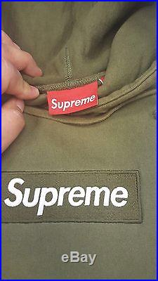 Supreme Box Logo Hoodie Olive Size L 1000% Authentic