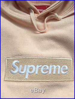 Supreme Box Logo Hoodie Peach Size Large