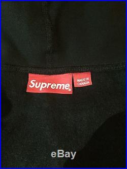 Supreme Box Logo Hoodie Pullover Black Medium