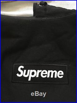 Supreme Box Logo Hoodie Pullover Black Sz M OG Rare S Logo