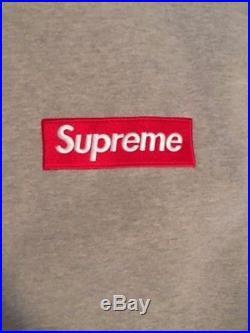 Supreme Box Logo Hoodie Pullover Gray Size M