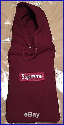 Supreme Box Logo Hoodie Rare Authentic Burgundy 2011