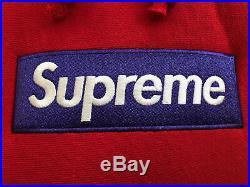 Supreme Box Logo Hoodie Red FW17 Size Large