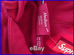 Supreme Box Logo Hoodie Red FW17 Size Medium