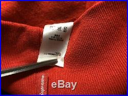 Supreme Box Logo Hoodie Red/Red FW16 Size Medium IN-HAND