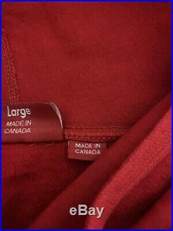 Supreme Box Logo Hoodie. Red, Size Large