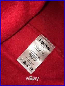 Supreme Box Logo Hoodie Red Size Small