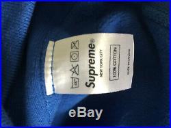 Supreme Box Logo Hoodie Royal Blue FW08 Medium