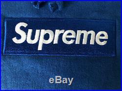 Supreme Box Logo Hoodie Royal Blue FW08 Size Large
