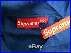 Supreme Box Logo Hoodie Royal Blue FW08 XL