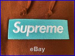 Supreme Box Logo Hoodie Rust FW17 Size XL