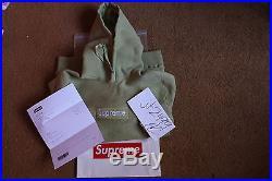 Supreme Box Logo Hoodie Sage Small