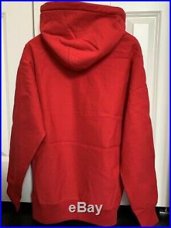 Supreme Box Logo Hoodie. Size L. Color Red