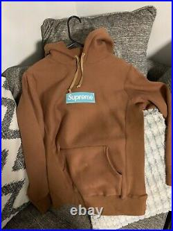Supreme Box Logo Hoodie Size Small (Rust) FW17 Authentic