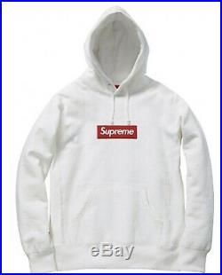 Supreme Box Logo Hoodie Small White