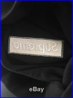 Supreme Box Logo Hoodie Sweatshirt Black Size XL