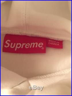 Supreme Box Logo Hoodie Tonal White Size Large