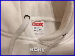 Supreme Box Logo Hoodie White Large Sweatshirt Perfect
