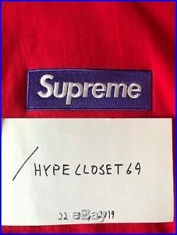 Supreme Box Logo Hoodie (purple on red) (M) AUTHENTIC