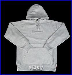 Supreme Box Logo KAWS Grey Hoodie XL BRAND NEW bogo S/S 2011 Jordan IV Gray