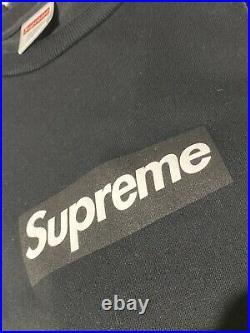 Supreme Box Logo L/S Long Sleeve Tee Black Size Medium 9/10 Condition