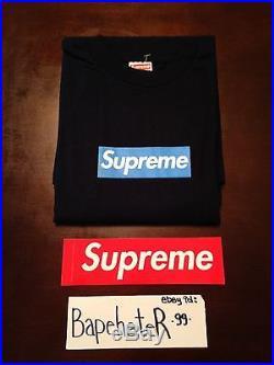 Supreme Box Logo Navy/Blue Tee T-shirt BNWT 2005 Los Angeles XL Xlarge cdg