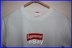 Supreme Box Logo OG White/Red Tee T-shirt BRAND NEW Sz. L