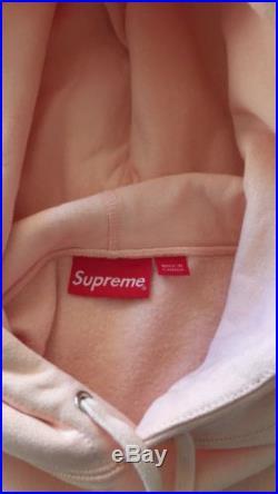 Supreme Box Logo Peach Hoodie Size L
