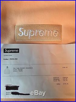 Supreme Box Logo Peach Hoodie Size XL F/W 16 With Receipt